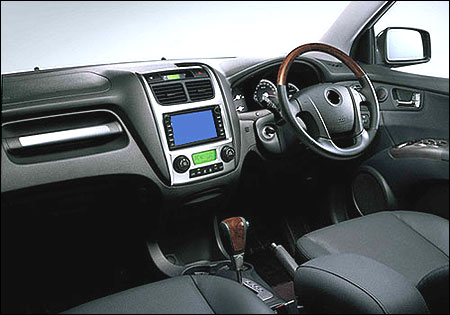 Interior view of Reva NXR.