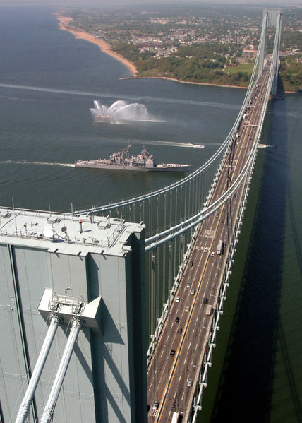 Verrazano-Narrows Bridge, connecting Brooklyn and Staten Island.