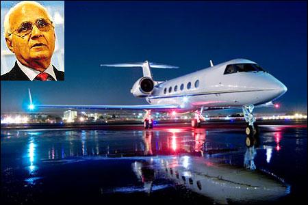 Gulfstream IV. (Inset) K P Singh.