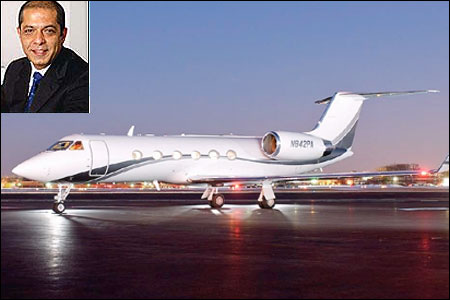 Gulfstream IV. (Inset) Atul Punj.