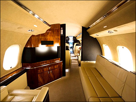 Bombardier Global Express XRS interior.