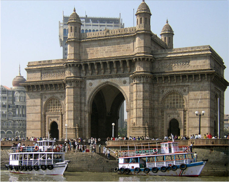 A view of Gateway of India in Mumbai.