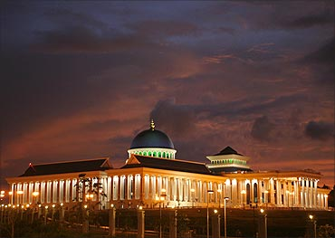 A view of Brunei's new Legislative Council building in Bandar Seri Begawan.