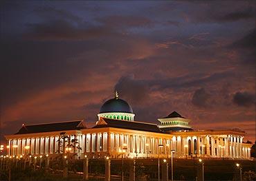 A view of Brunei's new Legislative Council building in Bandar Seri Begawan.