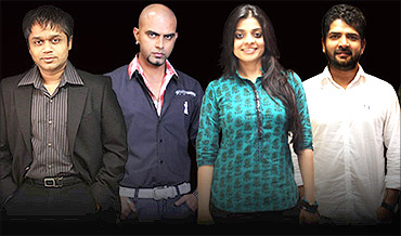 Top team: Ajit Andhare, Rajiv Lakshman, Nivedita Basu, Lalit Sharma ( L to R)