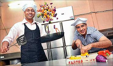 Pratyaksh Bhagi (R) and Ajay Yadav.