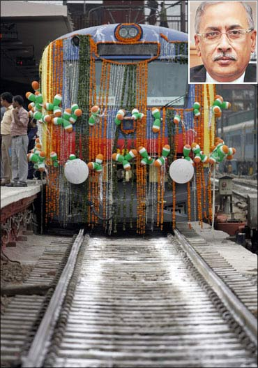 (Inset) Railway Financial Commissioner Samar Jha.