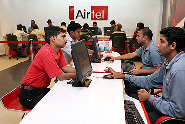 Bharti Airtel customer service centre.