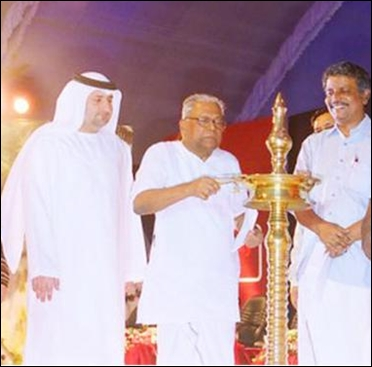 Kerala Chief Minister, VS Achuthanandan, and he SmartCity Executive Director, Fareed Abdulrahman at the inaugural funaction in 2007.