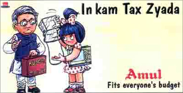 Amul advertisement on Budget.