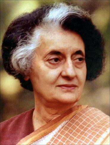 Indira Gandhi.