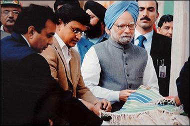 Prime Minister Manmohan Singh at Tihar jail.