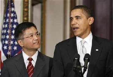 President Barack Obama and Gary Locke