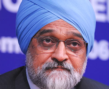 Planning Commission Deputy Chairman Montek Singh Ahluwalia.