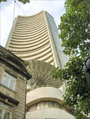 The Bombay Stock Exchange building.