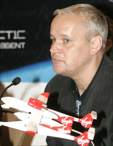 Stephen Attenborough speaks during a news conference in Moscow.