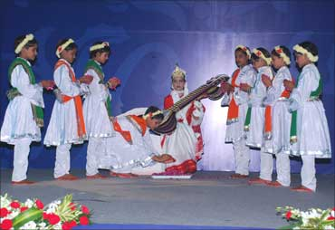 A performance by the students of VidyaGyan.
