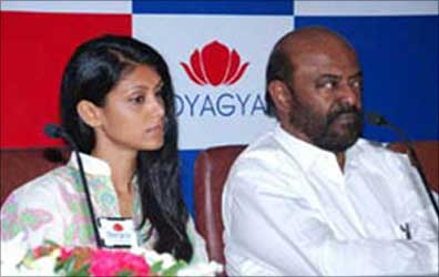 Roshni and Shiv Nadar.