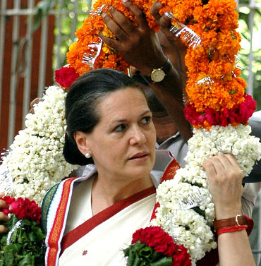 Congress president and United Progressive Alliance chairperson Sonia Gandhi.