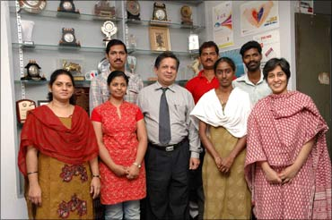 Dr Sunil Shroff with his team.