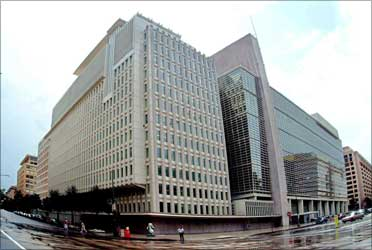 World Bank building.