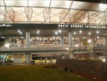 Rajiv Gandhi International Airport, Hyderabad.
