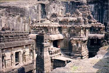 Kailash Temple in the Ellora Caves in Aurangabad.