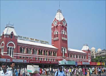 Central Rail Station, Chennai.