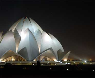 The Lotus Temple, Delhi.