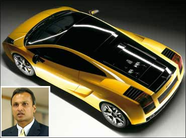 Lamborghini Gallardo (Inset) Anil Ambani.