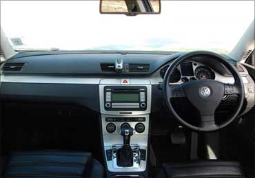 The dashboard of Passat.