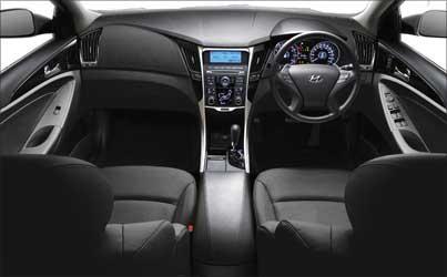 Stylish interior of i45.