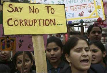 Protest against corruption.