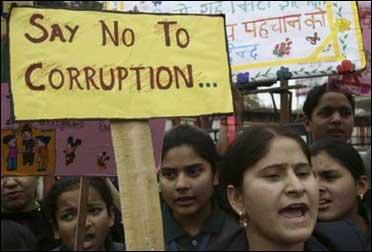 Protest against corruption.