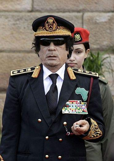 Libyan ruler Muammar Gaddhafi