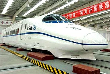 Bullet train in China.
