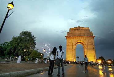 The India Gate.