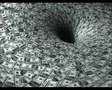 A vortex of money.