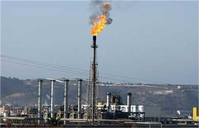 A view of a liquefied petroleum gas refinery.