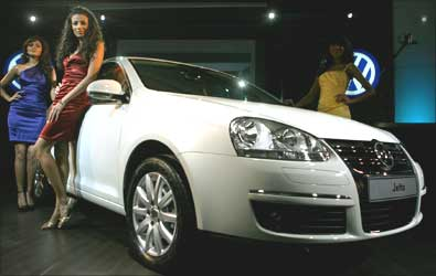 The newly designed Volkswagen Jetta is unveiled.