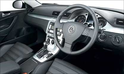 Interior view of Passat.