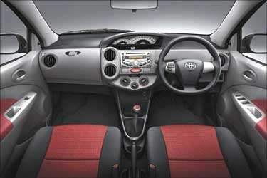 Interior of Etios Liva.