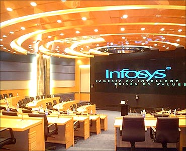 At the Infosys campus in Mysore.