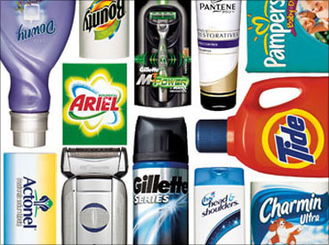 Procter and Gamble products.