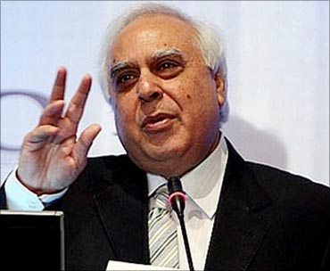 Union Minister Kapil Sibal