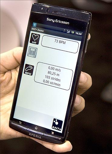 Sony Ericsson Xperia Arc smartphone.