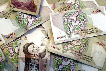 Iranian currency.