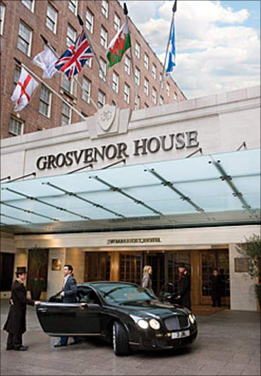 Grosvenor House hotel on Park Lane in Central London.