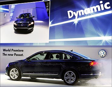 The new Volkswagen Passat is introduced at the North American International Auto show in Detroit.