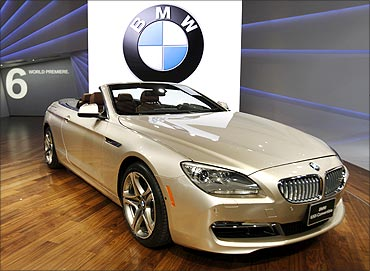 BMW 650i convertible.